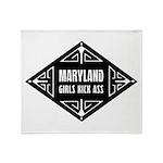 Maryland Girls Kick Ass Throw Blanket