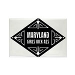 Maryland Girls Kick Ass Rectangle Magnet