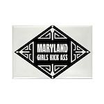 Maryland Girls Kick Ass Rectangle Magnet (10 pack)