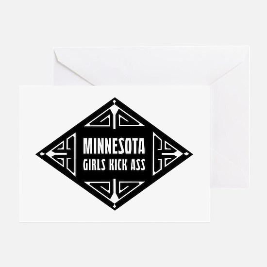 Minnesota Girls Kick Ass Greeting Card