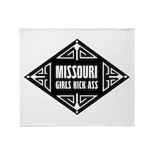 Missouri Girls Kick Ass Throw Blanket