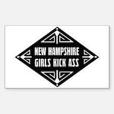 New Hampshire Girls Kick Ass Decal
