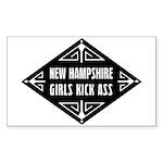 New Hampshire Girls Kick Ass Sticker (Rectangle)