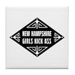 New Hampshire Girls Kick Ass Tile Coaster