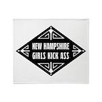 New Hampshire Girls Kick Ass Throw Blanket