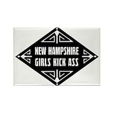 New Hampshire Girls Kick Ass Rectangle Magnet