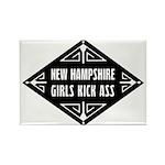 New Hampshire Girls Kick Ass Rectangle Magnet (100