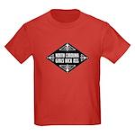 North Carolina Girls Kick Ass Kids Dark T-Shirt