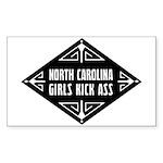 North Carolina Girls Kick Ass Sticker (Rectangle 1