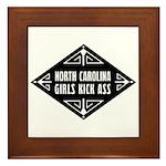 North Carolina Girls Kick Ass Framed Tile