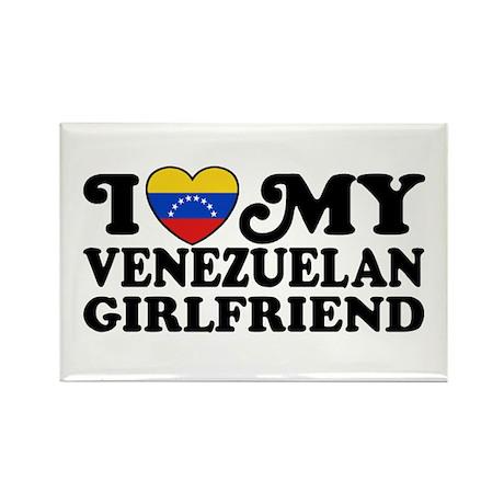 I Love My Venezuelan Girlfriend Rectangle Magnet