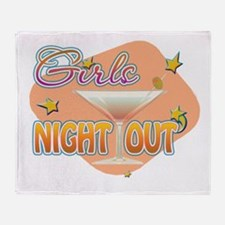 Cute Girls night out Throw Blanket