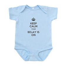 Keep Calm Belay is On Infant Bodysuit