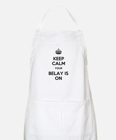 Keep Calm Belay is On Apron