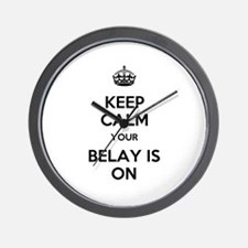 Keep Calm Belay is On Wall Clock