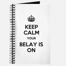 Keep Calm Belay is On Journal