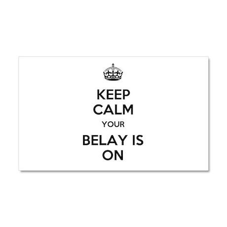 Keep Calm Belay is On Car Magnet 20 x 12