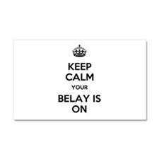 Keep Calm Belay is On Car Magnet 20 x 12