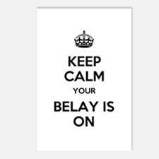 Keep Calm Belay is On Postcards (Package of 8)