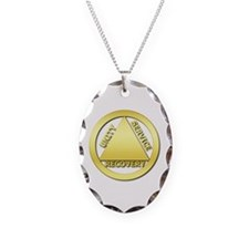 AA01 Necklace Oval Charm