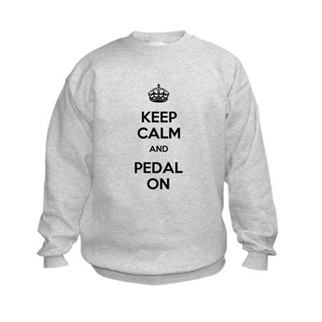 Keep Calm and Pedal On Kids Sweatshirt