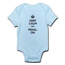 Keep Calm and Pedal On Infant Bodysuit