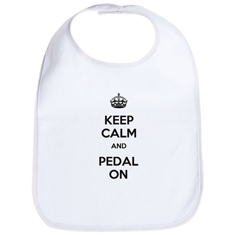 Keep Calm and Pedal On Bib