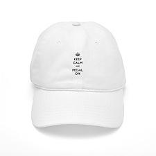 Keep Calm and Pedal On Baseball Cap