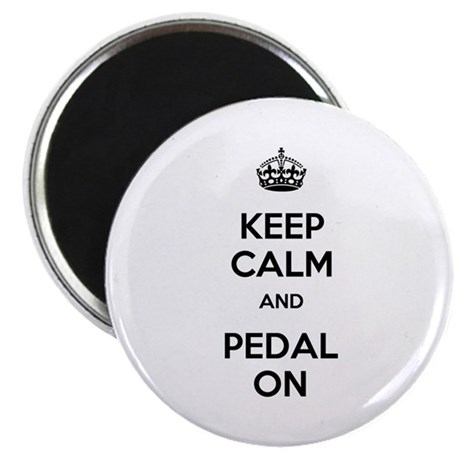 """Keep Calm and Pedal On 2.25"""" Magnet (10 pack)"""