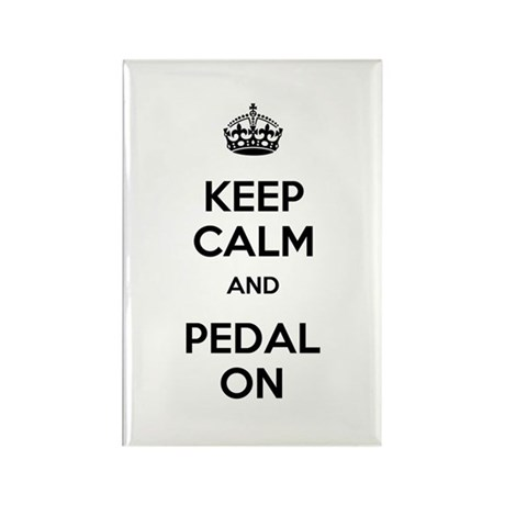 Keep Calm and Pedal On Rectangle Magnet (10 pack)