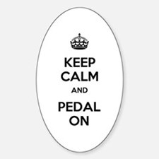 Keep Calm and Pedal On Decal