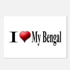 I Love My Bengal Postcards (Package of 8)