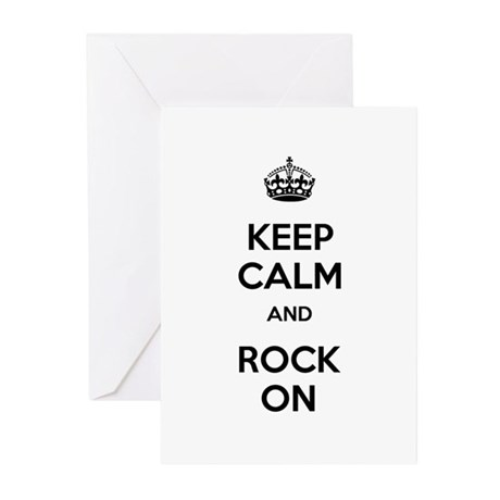 Keep Calm and Rock On Greeting Cards (Pk of 20)