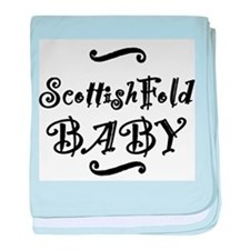 Scottish Fold BABY baby blanket