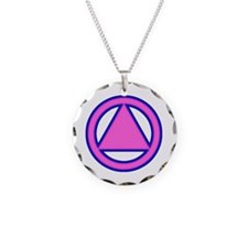 AA12 Necklace Circle Charm