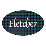 Tartan - Fletcher Sticker (Oval)