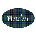 Tartan - Fletcher Sticker (Oval 50 pk)