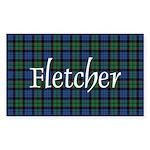 Tartan - Fletcher Sticker (Rectangle)