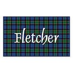 Tartan - Fletcher Sticker (Rectangle 50 pk)