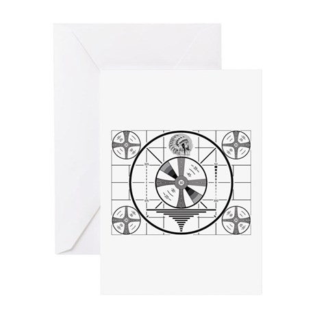 1950's TV Test Pattern Greeting Card