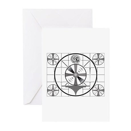 1950's TV Test Pattern Greeting Cards (Pk of 10)