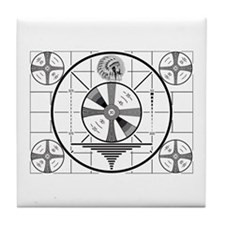 1950's TV Test Pattern Tile Coaster