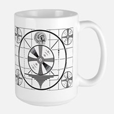 1950's TV Test Pattern Large Mug