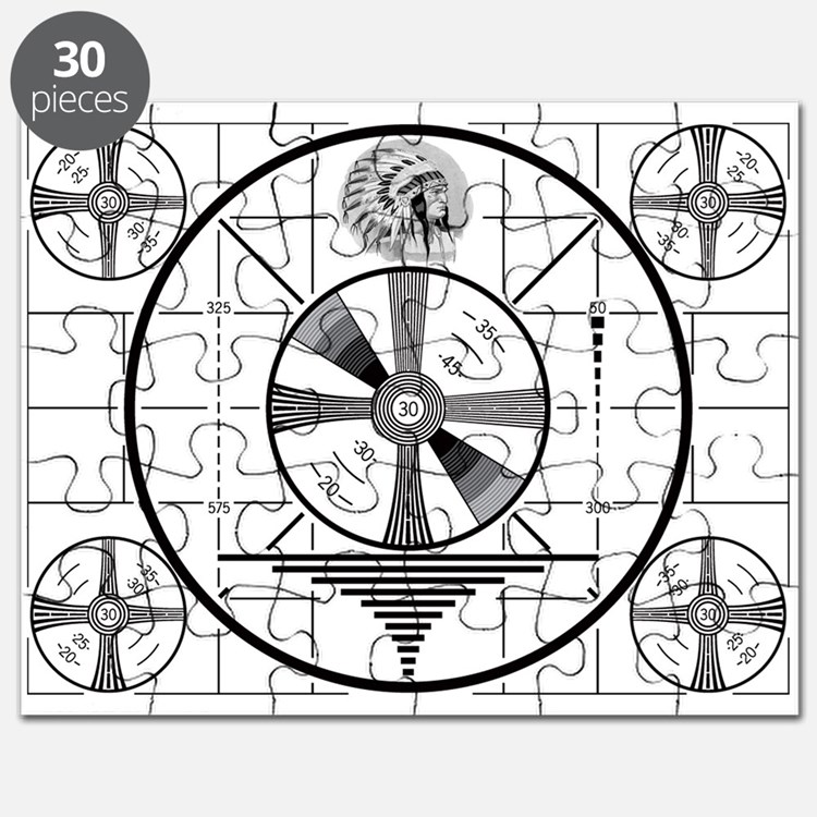 1950's TV Test Pattern Puzzle
