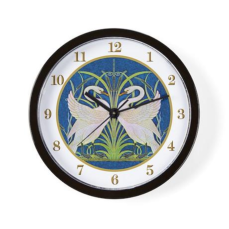 Art Nouveau Swans Wall Clock