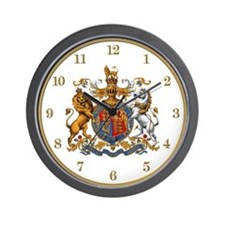 British Royal Crest Wall Clock
