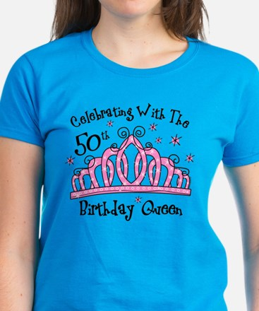 Tiara 50th Birthday Queen CW Women's Dark T-Shirt