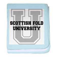 Scottish Fold UNIVERSITY baby blanket