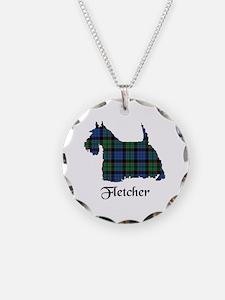 Terrier - Fletcher Necklace Circle Charm