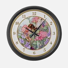 Sweet Pea Fairies Large Wall Clock
